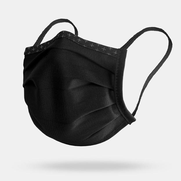 Set de 3 masques en tissu, noir, taille L