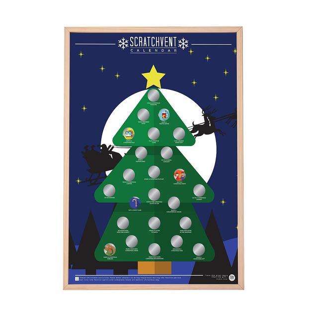 Scratch Poster - Bucket List für den Advent