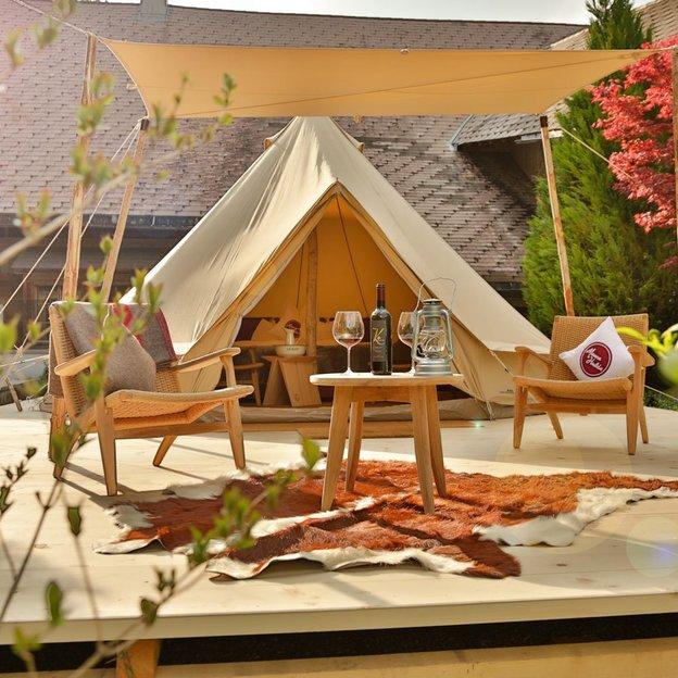 Romantische Übernachtung im Safari Zelt (für 2 Personen)