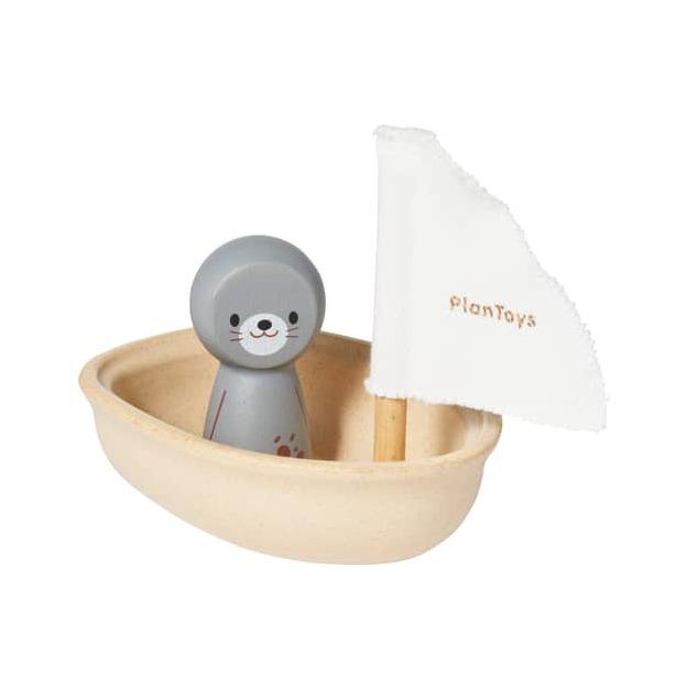 Segelboot Robbe, Badewannespielzeug aus rezyklierten Kautschuk-Bäumen