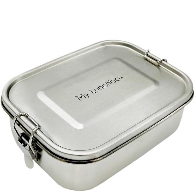 Personalisierbare Lunchbox aus Edelstahl