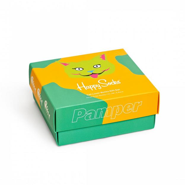 HappySocks 2-Pack Cat Lover Gift Set 36-40