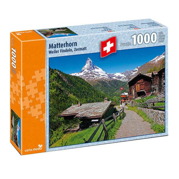 Matterhorn, Weiler Findeln Zermatt - Puzzle 1000-teilig