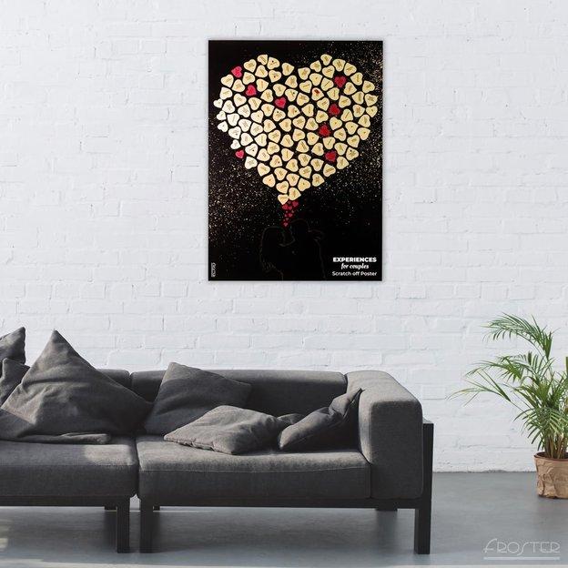 Poster à gratter - Bucket List 100 activités pour les couples