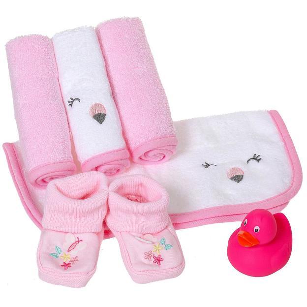 Baby Geschenkset rosa, 6-teilig
