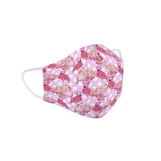 Masque de protection, flamant rose