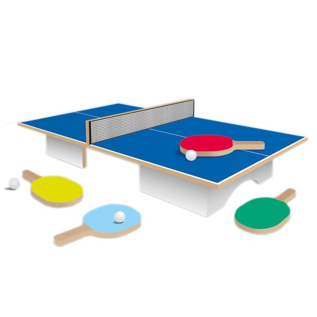 Mini Ping Pong Set inkl. 4 Schläger und 3 Bällen