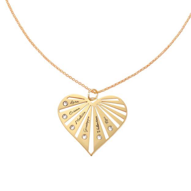 Collier avec pendentif cœur personnalisable