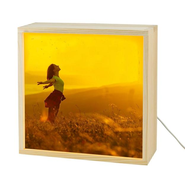 Personalisierbare Lightbox mit Foto