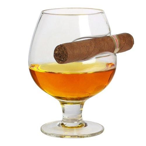 Image of Cognacschwenker mit Zigarrenablage