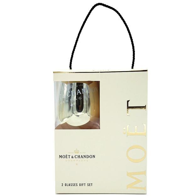 Coffret cadeau Moët & Chandon N.I.R DRY, LED, avec 2 verres
