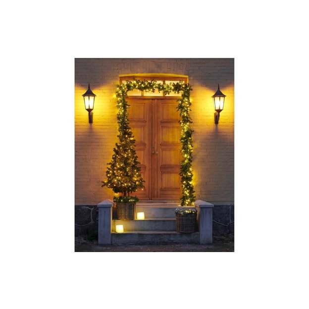 Sirius LED-Weihnachtskranz Anton Ø 45 cm Grün beschneit