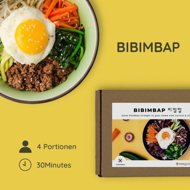 Authentische Bibimbap Rezeptkochbox