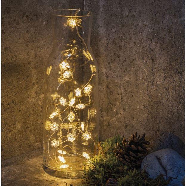 Guirlande LED Flocons de neige Nynne Sirius, argenté