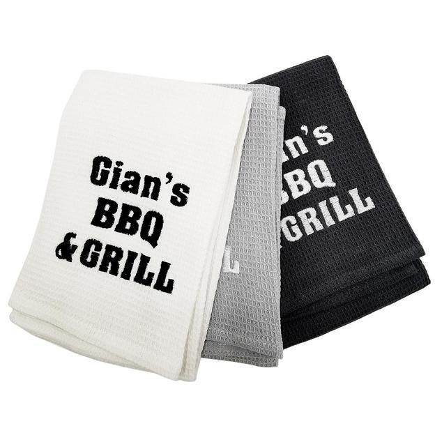 Personalisiserte Küchentücher 3er Set Grau