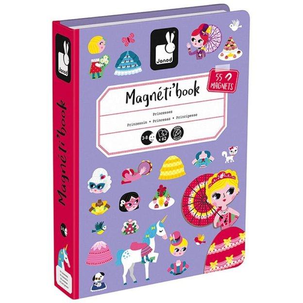 Janod Magnetbuch Prinzessin 55 Magnete und 7 Karten