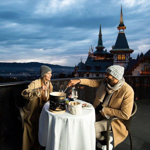 Nuit romantique et fondue au Dolder Grand (2 personnes)