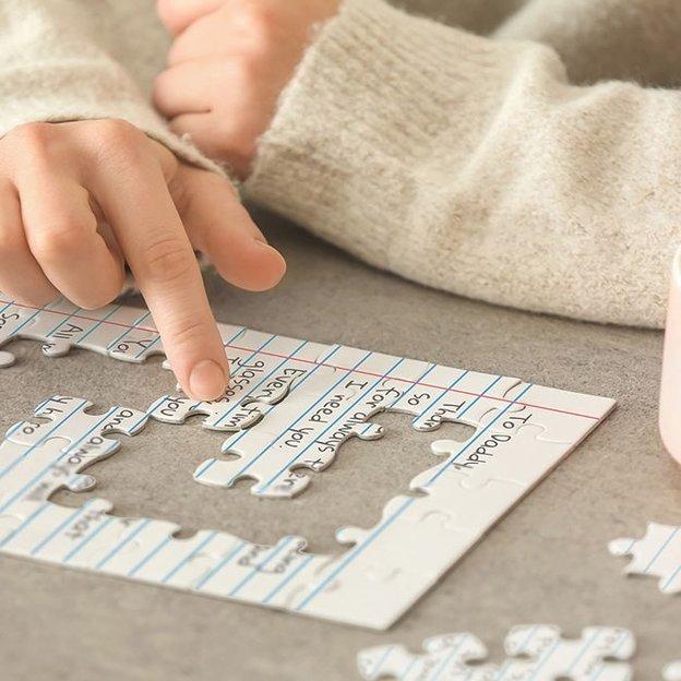 DIY Puzzle Grussbotschaft