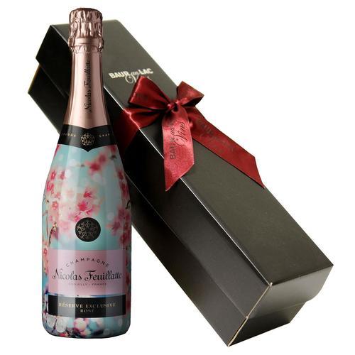 Image of Geschenkset Champagner- Nicolas Feuillatte Rosé de Printemps