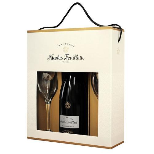 Image of Geschenkset Champagner Nicolas Feuillatte Blanc de Blancs brut inkl. 2 Gläser
